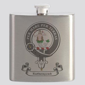 Badge-Rutherford [Lord Rutherford] Flask